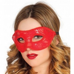 Maska koronkowa czerwona