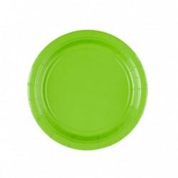Talerz papierowy zielony...
