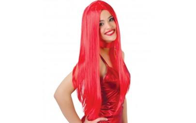 Peruka długie włosy czerwone