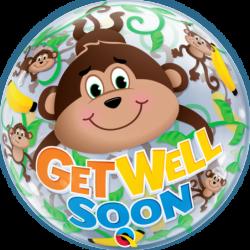 Balon 22 małpka Get Well...