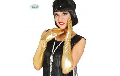 Rękawiczki złote metaliczne...