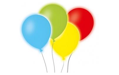 Balon Led mix kolorów 4 szt.