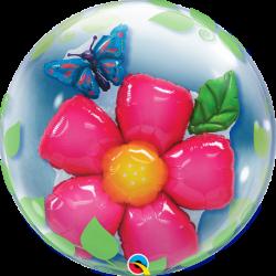 """Balon Bubbles 24"""" Kwiatek z..."""