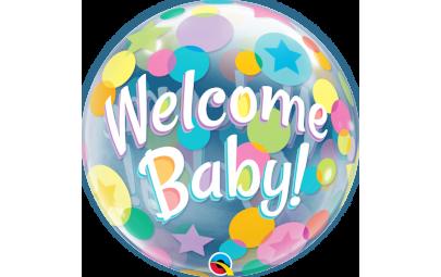 Balon 22 Welcome Baby bubble