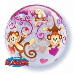 Balon 22 Love Monkeys boubble