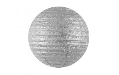 Lampion brokatowy srebrny 45cm