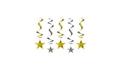 Świderki gwiazdki złote 60 cm
