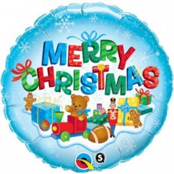 Balon foliowy 18 Wesołych Świąt prezenty