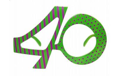 Okulary 40 zielone