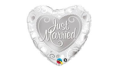 Balon 18 serce just married...