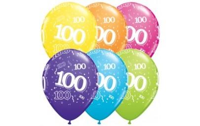 Balon 11 100 urodziny 6 szt.