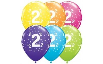 Balon 11 2 urodziny 6 szt.