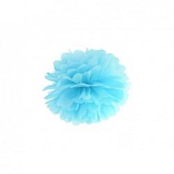 Pompon bibułowy błękitny 25cm