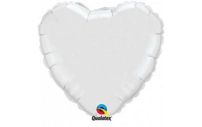 Balon foliowy 36 serce białe