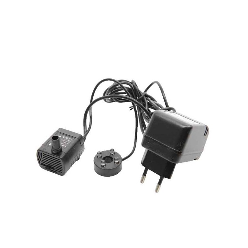 Pompa zapasowa do fontanny czarna 13x5x7cm