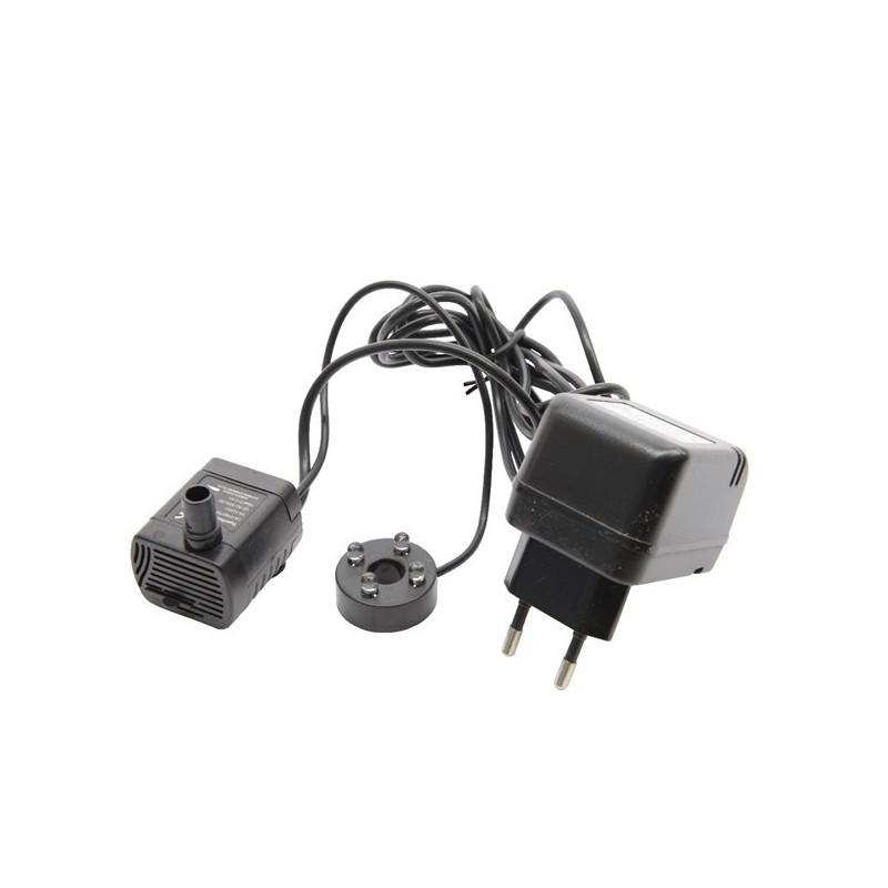 Pompa zapasowa do fontanny czarna 19x10x8,5cm