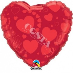 Balon 18 czerwone serce
