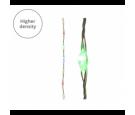 Lampki micro 378 led srebrny/multi wew/zew 600 cm
