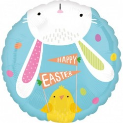 balon okrągły Hello Bunny