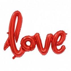 Balon foliowy napis LOVE czerwony 68cm