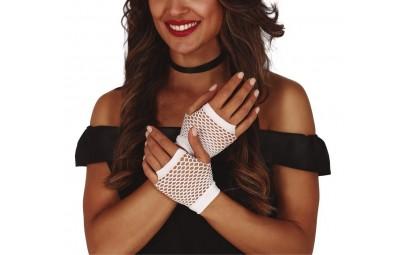 Rękawiczki białe z siatki...