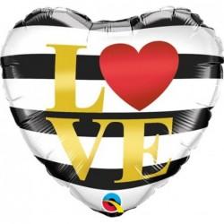 Balon foliowy 18 serce w...