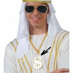 Naszyjnik dolar $ złoty