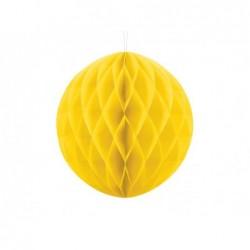 Kula bibułowa żółta 30cm