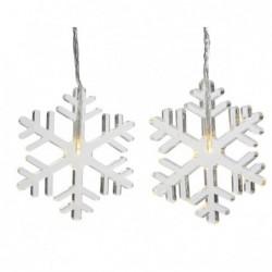 Lampki śnieżynki 8 led wewnętrzne ciepły biały 50x105cm 8 szt.