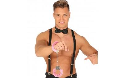 Kajdanki z futerkiem różowym