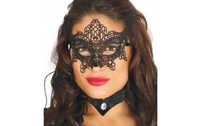 Maska ażurowa czarna