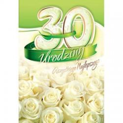 Karnet urodzinowy 30lat