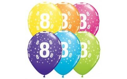 Balon 11 8 urodziny 6 szt