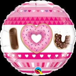 Balon foliowy 18 donuts I <3 U