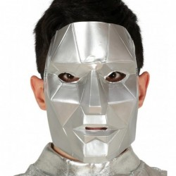 Maska geometryczna srebrna