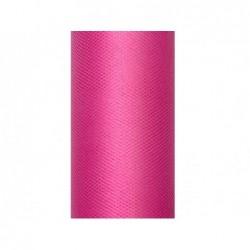 Tiul na rolce różowy 0,5 x 9m