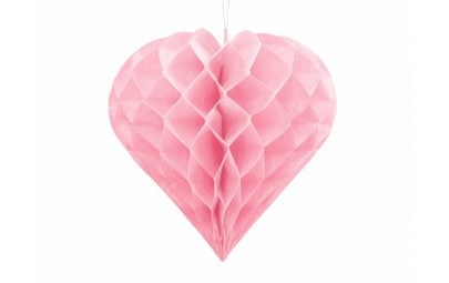 Serce bibułowe 20cm jasny...