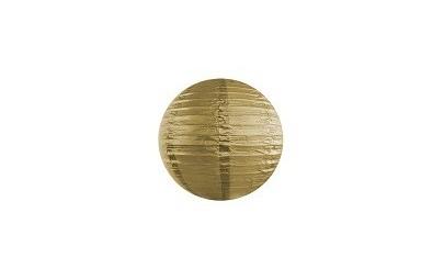 Lampion papierowy złoty 25cm