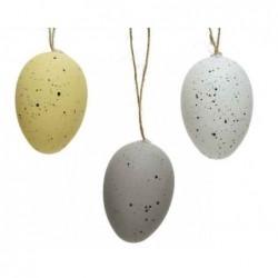 Jajko dekoracyjne zawieszka 4x6cm 12 szt.