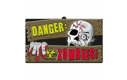Znak Zombi halloween 43,8x25cm