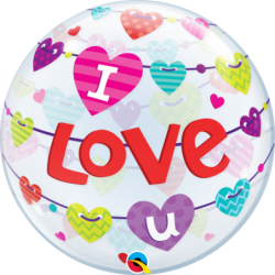 Balon 22 baner I Love You...