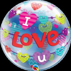 Balon 22 baner I Love You...