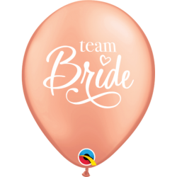 Balon 11 Team Bride różowe złoto 6 szt.