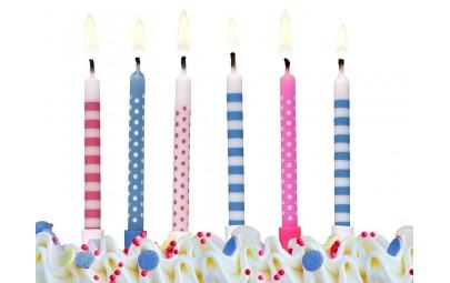 Świeczki urodzinowe kropki...