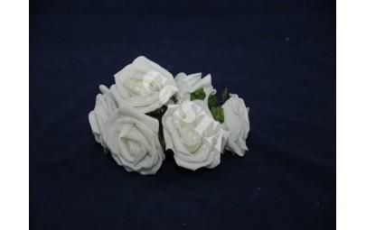 Róża pianka mała krem 6szt