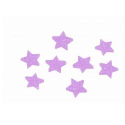 Gwiazdki brokatowe fioletowe 4cm 24 szt