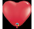 Balon 11 serce czerwone pastel 10 szt.