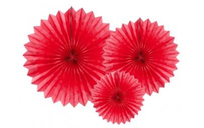 Rozety dekoracyjne czerwone...