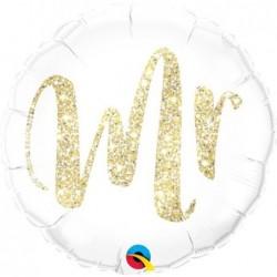 Balon foliowy 18 biały Mr...