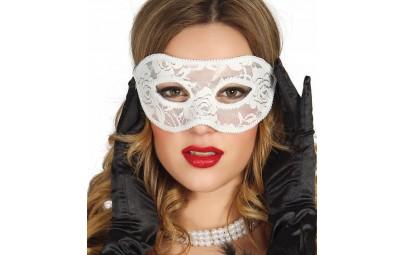Maska koronkowa biała
